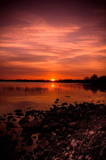 Sunset Sun Scenery Water Reflection Sky Nature Beach First Eyeem Photo