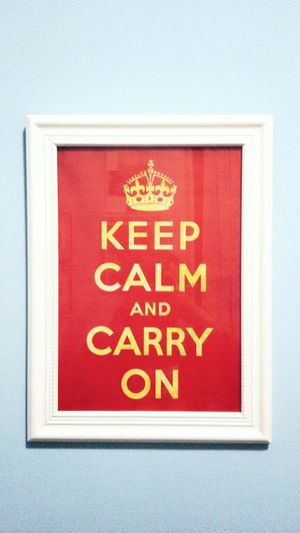 Keep calm and carry on Picture Red Cultures Close-up Day Sentences England Picture Frame White Frame Clear Lifestyles Lieblingsteil