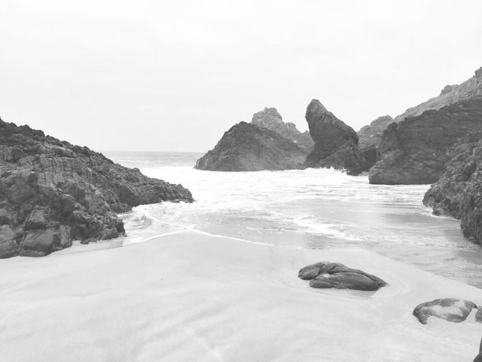 Smooth and harsh Pictureoftheday Screensaver Eye Em Black & White Eye Em Best Shots - Nature Rock Formation Scenics Beach Tranquil Scene Outdoors Beauty In Nature Sand Water Rocks Noir Landscape Blackandwhite Calm Cornish Landscape Cornish Coast Lizard Coast Black And White Friday