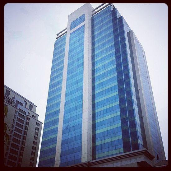 Yangon Ygn Building Myanmar blue