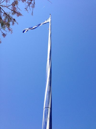 Largest Greek flag in the world at Keri, Zakynthos Blue Clear Sky Day Flying Height Largest Greek Flag In The World Outdoors Summer