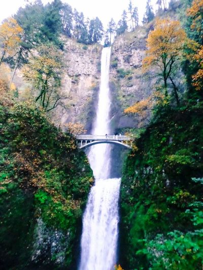 Mulnomah Falls Oregon United States Nature_collection Waterfall