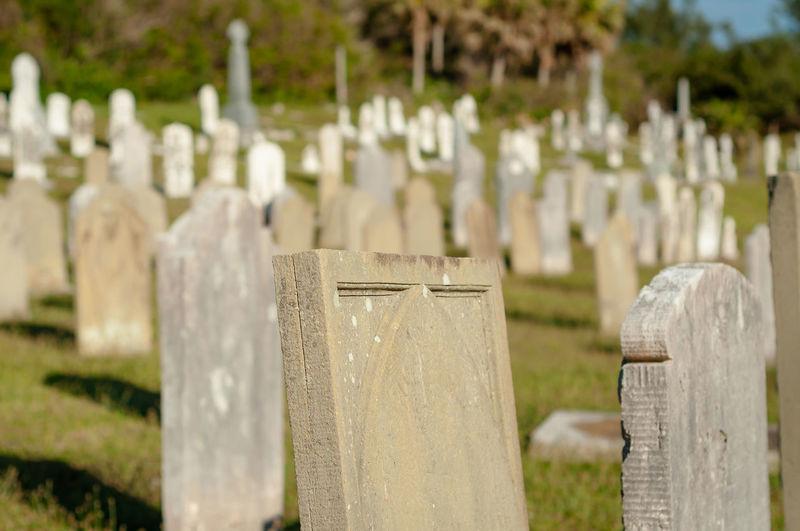 Tombstones at
