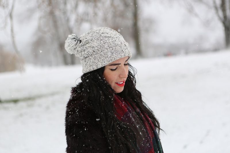 Candid beauty on a snowy Sunday in the park.... Candid Portraits Candid Photography Candid London Leisure Activity Real People Outdoors Lifestyles Beautiful Woman Long Hair Young Adult Snowing Scarf Smiling Focus On Foreground Young Women