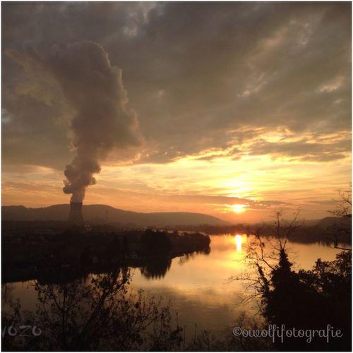 ...der Hochrhein bei Waldshut-Tiengen in der Novembersonne 💕💗 Monique52 Himmel The Purist ( No Edit, No Filter )