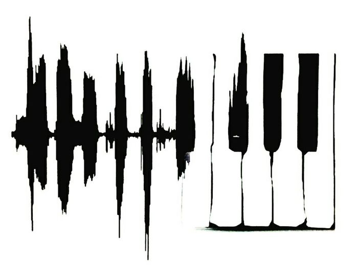 Getting Inspired Music Soundtrack Piano Black And White Art, Drawing, Creativity Graphic Design