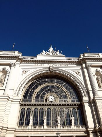Keleti Railway Station Architecture Building Exterior Built Structure Clear Sky Low Angle View No People Outdoors Railwaystation