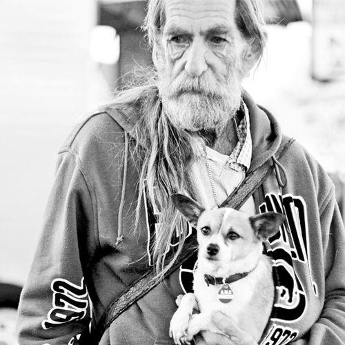 H.O.P.E - Humans of Port Elizabeth A lonely man walks his dog, his only love of his life, mans most loyal companion. Love Bestfriends Loyalty Highkey Portraits Photography Filmnoir