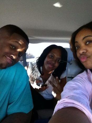 Love my sis n my hubby but catch us n traffic