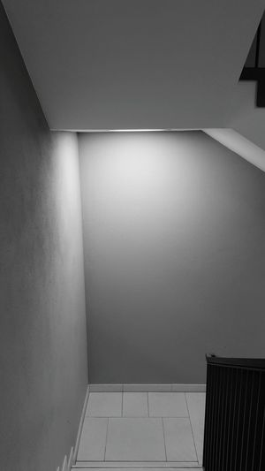 Staircase Light Blackandwhite Black And White Lonely Place  Spooky Prison Confined Space Architecture Basement Parking Garage Architectural Design Recessed Light