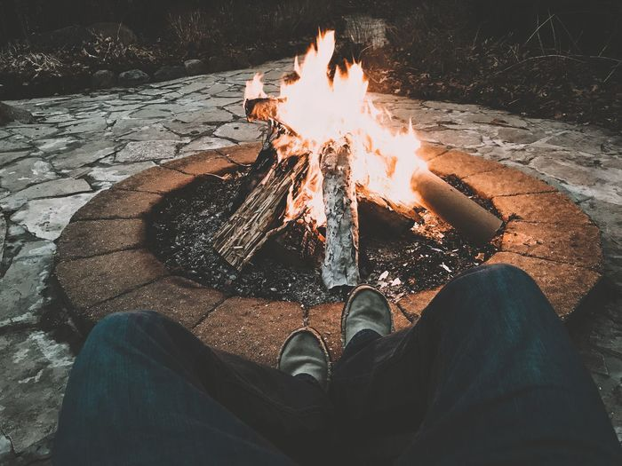 The time for reflection will always out last the fire.🍻 EyeEm Selects Human Leg Low Section One Person Real People Human Body Part Burning Men Flame Shoe Human Foot Personal Perspective Lifestyles Leisure Activity Outdoors Heat - Temperature One Man Only Nature Night