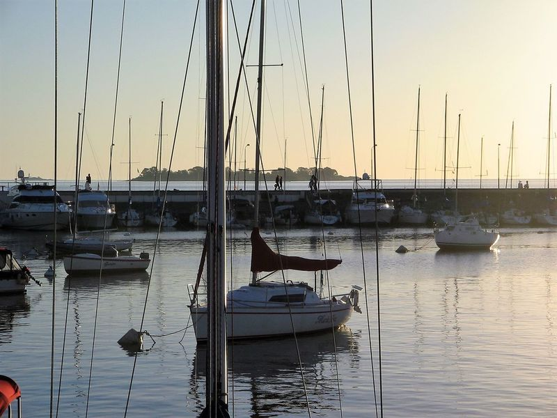 Evening at the Yachting Club Harbor Island Mast Moored Nature Nautical Vessel No People Outdoors Reflection River Plate Sailboat Sea Sky Sunset Sunset #sun #clouds #skylovers #sky #nature #beautifulinnature #naturalbeauty #photography #landscape Surfbreaker Tourism Destination Transportation Twilight Vacations Water