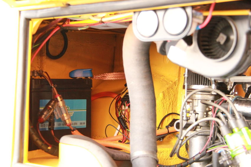Close-up of an engine compartment of a classic car Close-up No People Technology Cable Yellow Machinery Engine Detail Engine Compartment Classic Car EyeEmNewHere