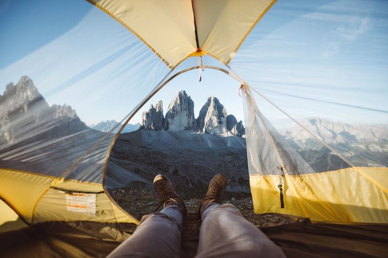 Lean back and relax. Dolomites, Italy Low Section Beauty In Nature Mountain Personal Perspective Adventure Lifestyles Relaxation One Person Human Leg Nature Leisure Activity Cold Temperature Tranquil Scene Vacations Scenics Sport Real People Sky Day Overhead Cable Car