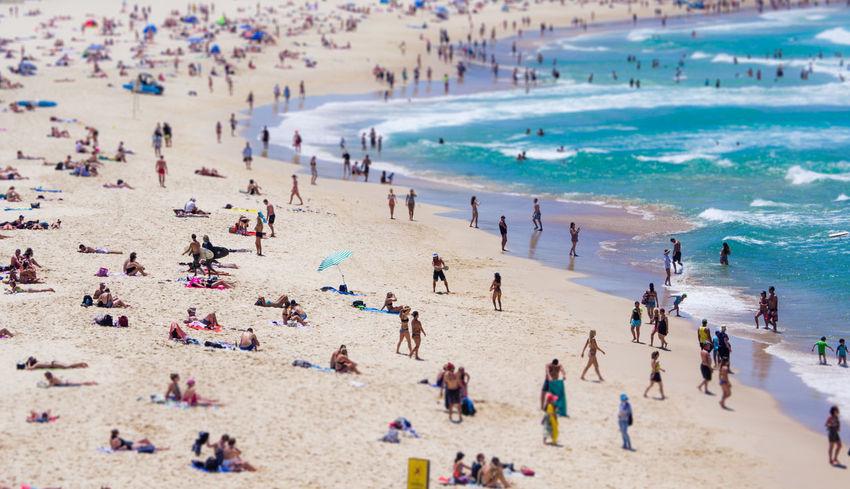 Tilt shift, Bondi Beach Sydney Tilt Shift Bondi Beach Sydney Szandpcreative Australia