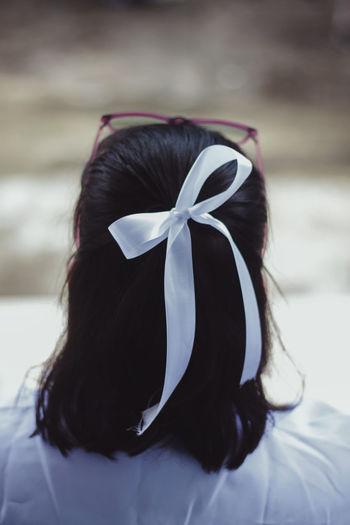 Bow Brown Hair