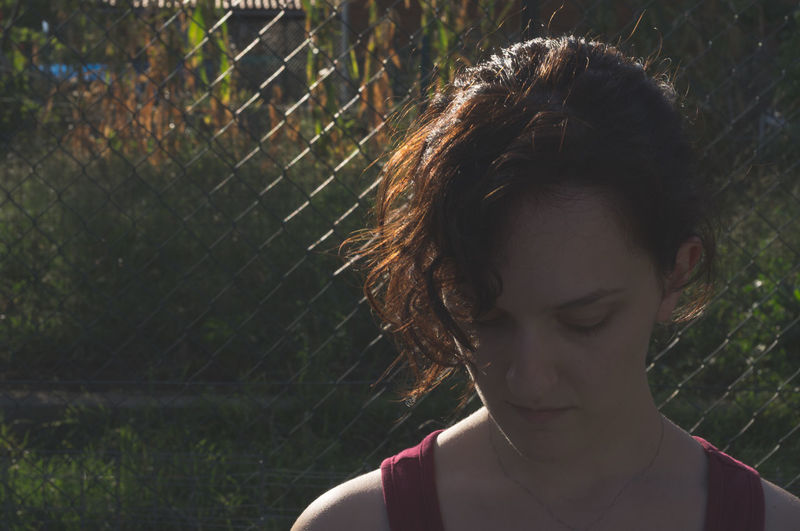 Close-up Day Garden Headshot Looking Down One Person Outdoors Real People Sunset Women Young Adult Young Women The Week On EyeEm See The Light