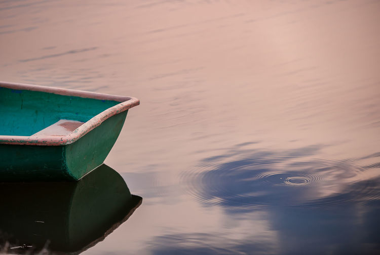 Close-up of boat in water
