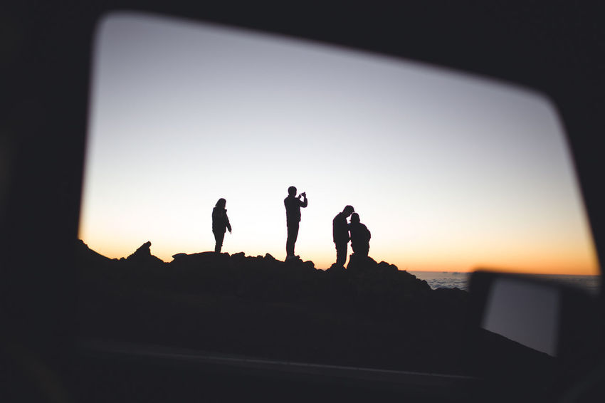 Sunset Silhouettes Sunset_collection Clear Sky Clouds Day Friendship Lifestyles Men Nature Outdoors People Real People Silhouette Sky Sunset Togetherness