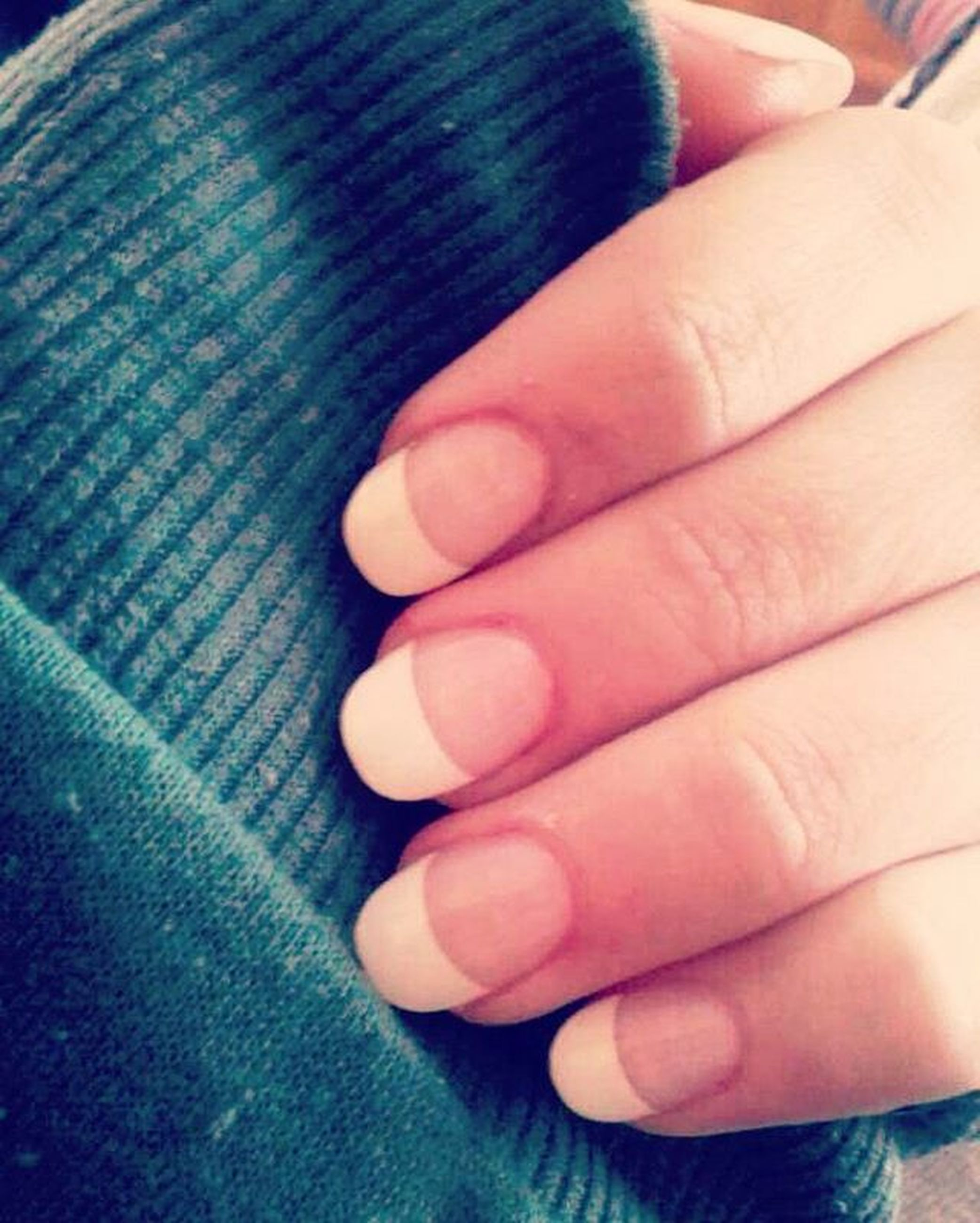 person, part of, close-up, indoors, lifestyles, high angle view, cropped, low section, human finger, personal perspective, unrecognizable person, holding, blue, leisure activity, nail polish
