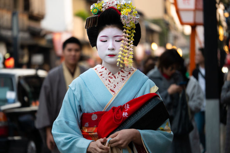 Maiko Kyoto, japan Street Portrait The Portraitist - 2018 EyeEm Awards Candid Photography Day One Person Outdoors People Portrait Standing Street Photography Streetphotography Traditional Clothing Women First Eyeem Photo