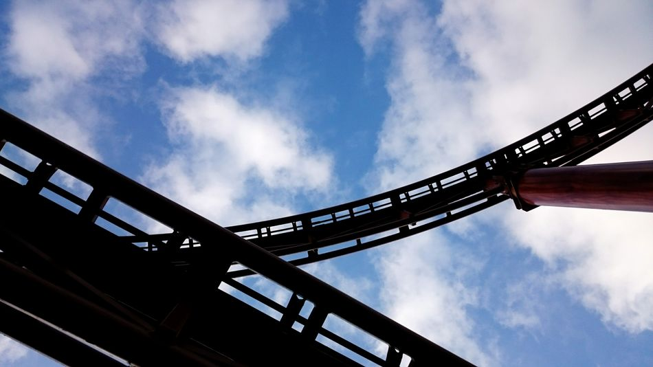 Rollercoaster Rails Sky And Clouds Silhoutte Photography Themepark Skyranchtagaytay Lostinph Different Angle Under