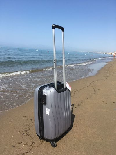 Bag at the beach Travel And Leisure Travel Photography Luggage Trolleys Luggage Bag Sea Sea Beach Land Water Sky Horizon Horizon Over Water No People Sunlight