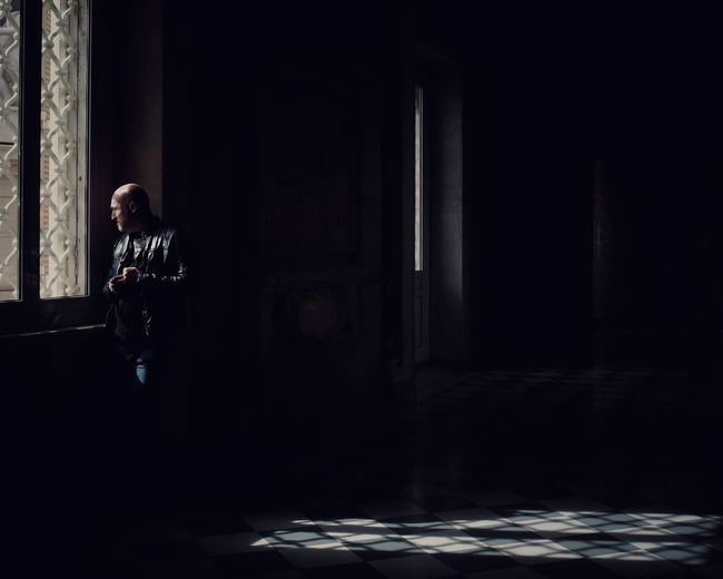 The Vatican EyeEm Best Shots Atmosphere Shadow One Person Real People Lifestyles Indoors  Sunlight Full Length Architecture Window Dark