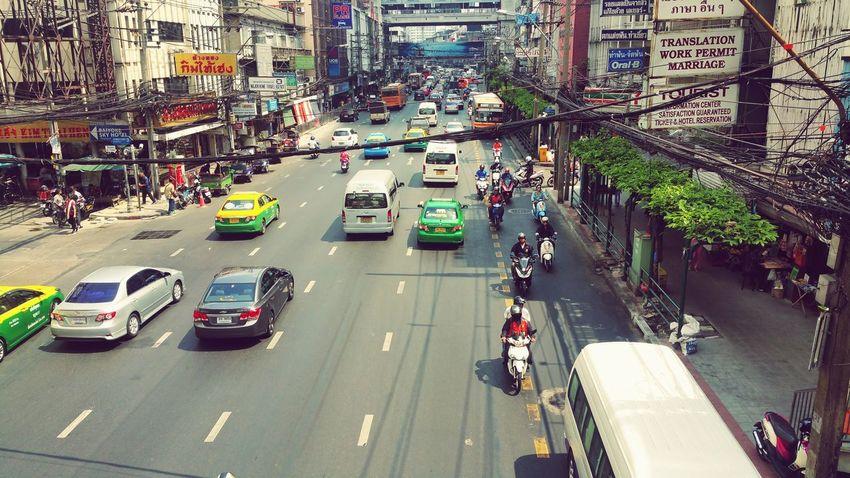 Bangkok Thailand. Peace Bangkok Trip Town Travel Taxi Hot Rood Local Trafic Jam Exiciting