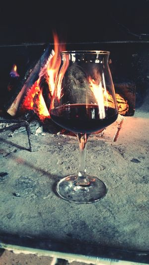 Home Sweet Home Wine Wintertime Relaxing