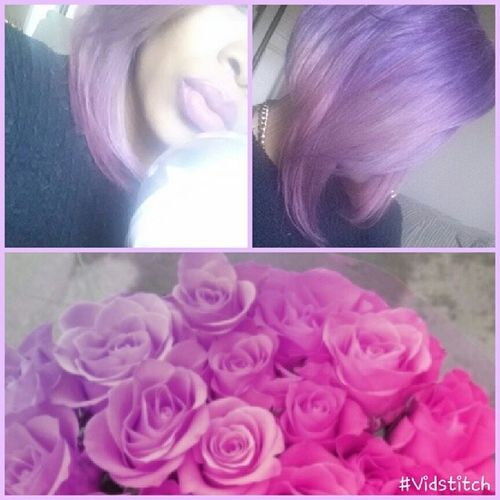 Ice cream was bomb flowers are pretty hair showing off my colorful spirit Girlyday Ladylike Hairstyle That's Me