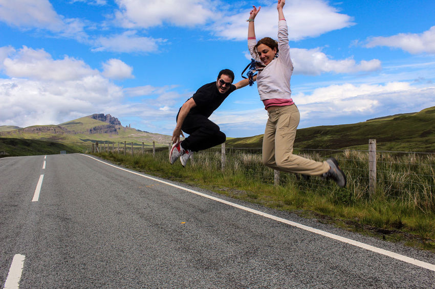 Sometimes you need to get out the car and do, this! Highway Isle Of Skye Jump Jump Ph Jump Photo MeinAutomoment Scotland