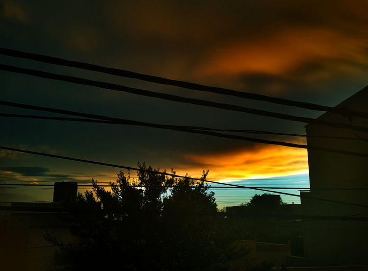 Evening storm Sunset Nature Electricity  Cable Sky Beauty In Nature Outdoors From My Point Of View Eyeem Photography Light And Shadow Nature Fine Art Photography Black And White Friday