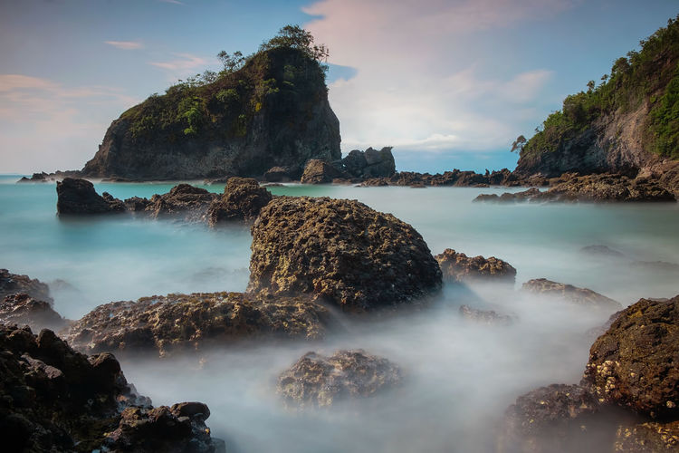 slow motion INDONESIA Beauty In Nature Central Java Cloud - Sky Day Idyllic Indonesia_photography Karangagung Land Long Exposure Nature No People Non-urban Scene Outdoors Rock Rock - Object Rock Formation Scenics - Nature Sea Sky Solid Tranquil Scene Tranquility Water