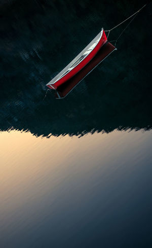 Transportation No People Nautical Vessel Water Outdoors Day Nature Light And Shadow Light Red Valvestino Relaxing Riflesso Reflection Boats⛵️ Boats Boat Nikon D800 Freshness Black Background 2017 Autumn Autumn🍁🍁🍁 Nature