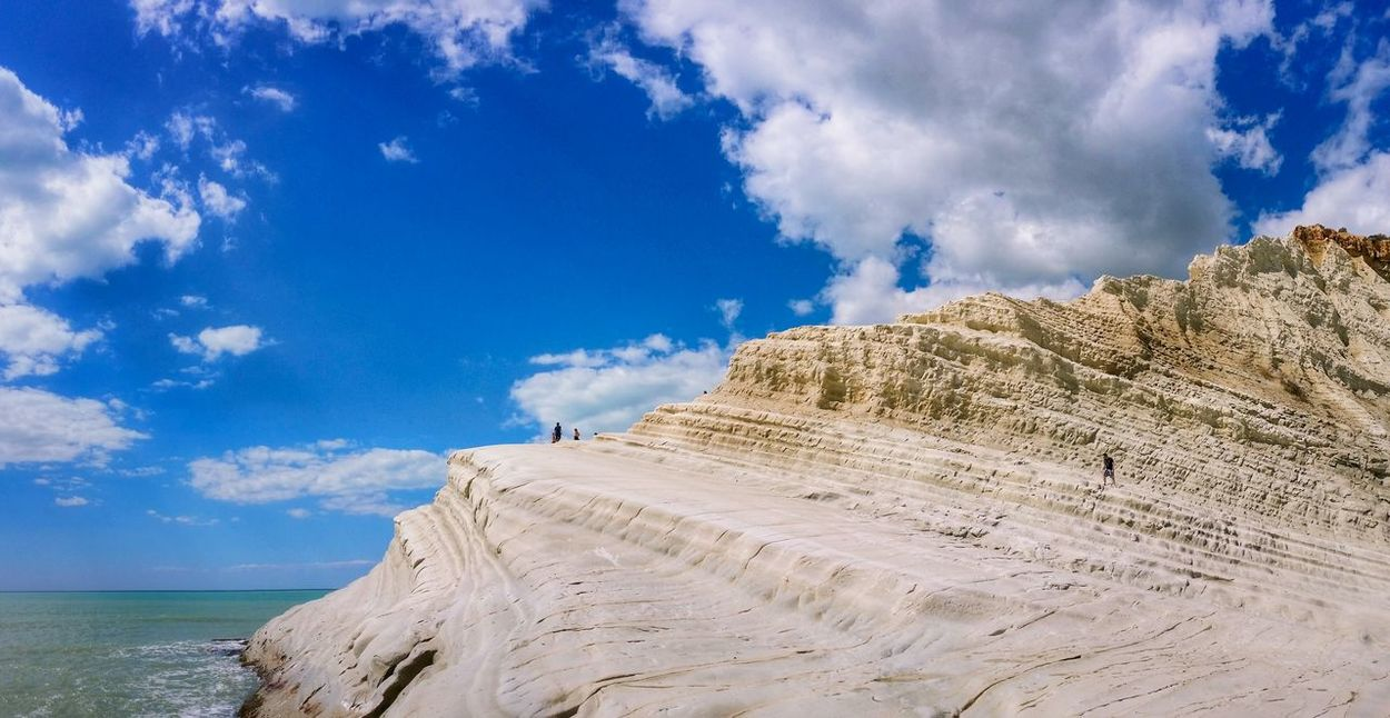 Showcase April Scala Dei Turchi Agrigento Sicily Italy Travel Photography Travel Voyage Traveling Mobile Photography Fine Art Panoramic Views Scenic Landscapes Landscapes With WhiteWall Blue Wave Nature Shorelines Cliffs Sea Reflections Sky Clouds Mobile Editing