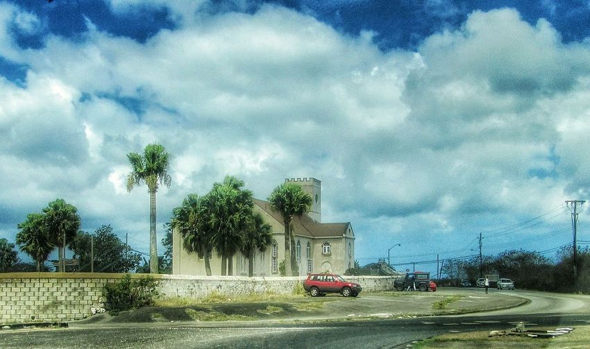 St.Thomas Parish Church Barbados Taking Photos Hello World Check This Out Barbados Church Great Outdoor Sky_collection Clouds And Sky Old Buildings Man Made Structure Trees Fine Art