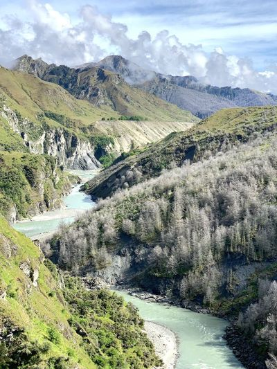 Shotover River Shotover River New Zealand Scenery Beauty In Nature Cloud - Sky Tranquility Sky Tranquil Scene Scenics - Nature Plant Nature Day Landscape Mountain Tree Water Idyllic Outdoors Environment