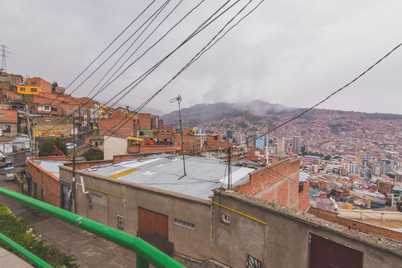 Architecture Building Exterior Built Structure Residential Building City Residential Structure Mountain Sky Residential District Town House High Angle View Canal Overcast Cloud - Sky Cityscape Travel Destinations Water City Life Cloud Bolivian La Paz, Bolivia BOLIVIA ❤ Bolivia Mirador