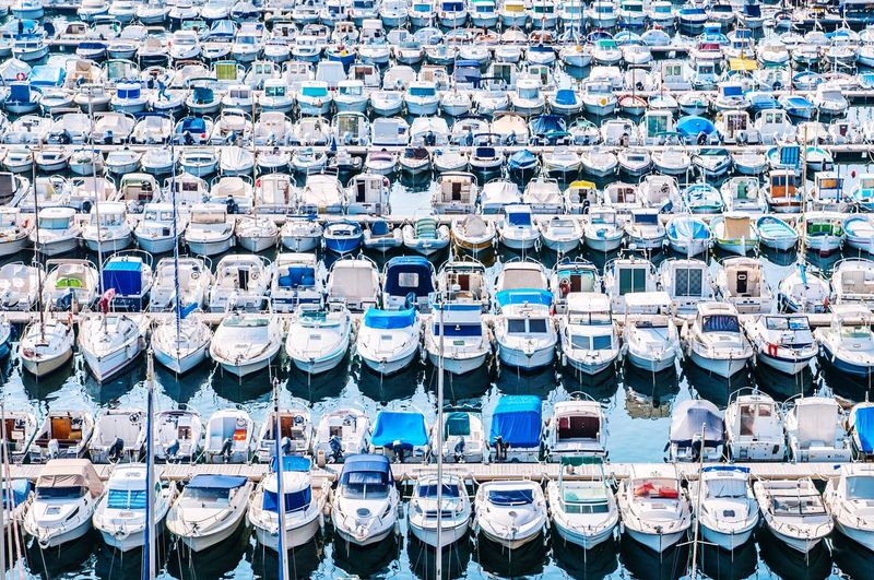 A lot of boats... Boat A Lot Of Sea Ocean Parking Ship Port Seaport Blue Water Many Season  Summer Beautifully Organized