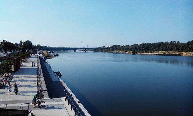 Warsaw Riverside Boulevard Vistula