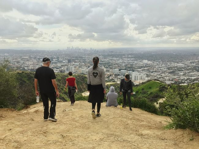 SoCal Runyoncanyon High Angle View City Outdoors Cityscape Beauty In Nature Cloud - Sky Real People People Togetherness Hiking Los Angeles, California Oykossstravel Oykosphotos Aynaphotography Rainy Days Mountain DTLA Beauty In Nature