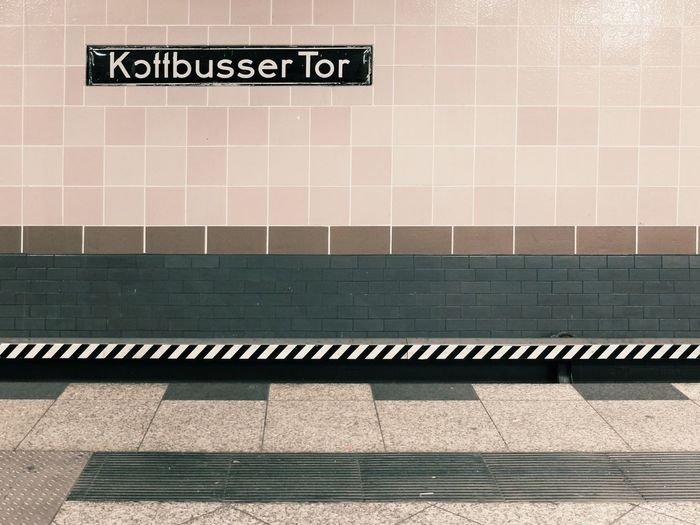 Kotti Kottbussertor Kreuzberg Ubahn Berlin Notes From The Underground Minimalobsession Minimalism Tiles VSCO Vscocam Berlin Subway Station Signage