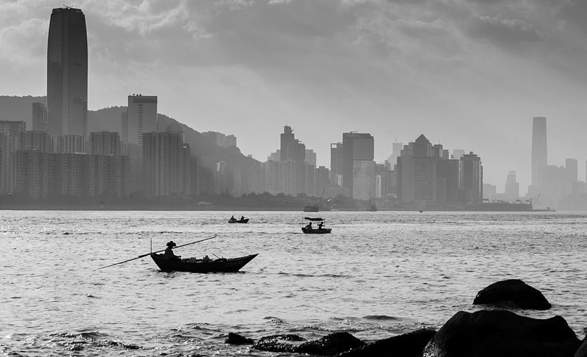 Lei Yue Mun 鋰魚門 Relaxing 56mm F1.2 Outdoors Blackandwhite Black And White Photography Travel Destinations Enjoying Life Home Is Where The Art Is Hongkonger Fujifilm XT-2 Snapshots Of Life Hong Kong Harbor Snapshot