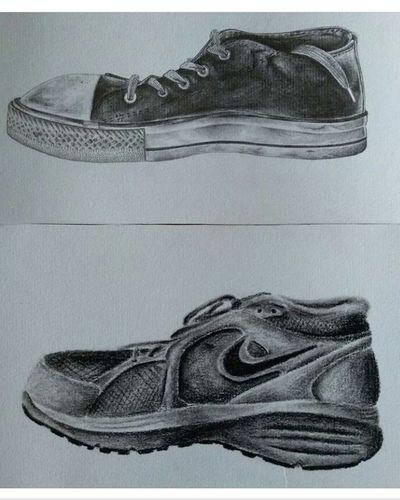 #art #ArtWork #artistic #artistic #blackandwhite #Black&White #black  #pencil #drawing #perfume #hi #Shoes  #NIKESocks #converse Camouflage Clothing Alligator Shoe Close-up