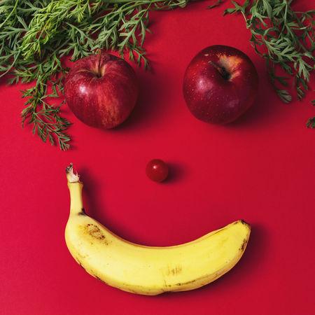 my stillleben series Apple - Fruit Banana Food And Drink Fruit Fruitporn Smile Still Life The Red Series