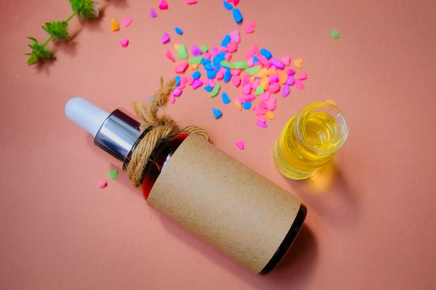 spa oil Aromatherapy Herb Herbs Alternative Medicine Alternative Therapy Aromatherapy Oil Beatiful Nature Beauty Spa Body Care Bottle Herbal Medicine Herbal Oil High Angle View Oil Oil Bottle Pastel Pastel Colors Product Salt - Mineral Spa Spa Time Spa Treatment Treatment