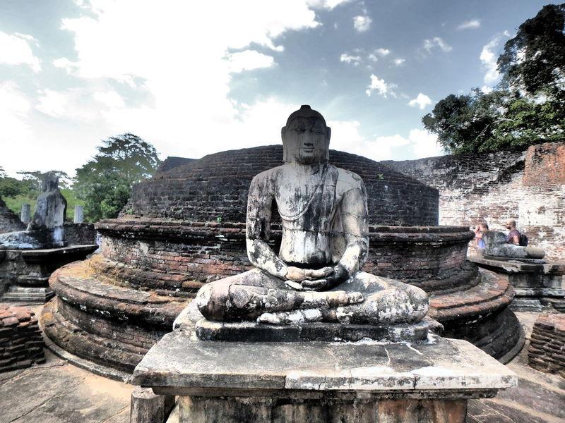 Buddha Statue Religion Religious  Religious Art Sky And Clouds Sri Lanka