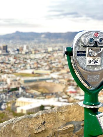 El Paso🇨🇱 Coin-operated Binoculars No People Outdoors Sky Day Close-up Architecture Building Exterior Cityscape City