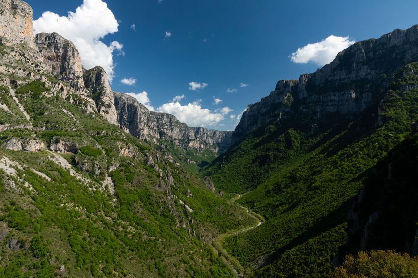Vikos Gorge in Northern Greece Gorge Vikos Aoos Beauty In Nature Canyon Cloud - Sky Environment Landscape Mountain Mountain Range Nature Non-urban Scene Outdoors Scenics - Nature Sky Tranquil Scene Tranquility Valley Vikos Vikos Gorge